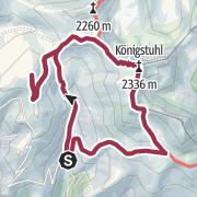 Karte / Königstuhl 2335m vom Karlbad über die Eisentalhöhe