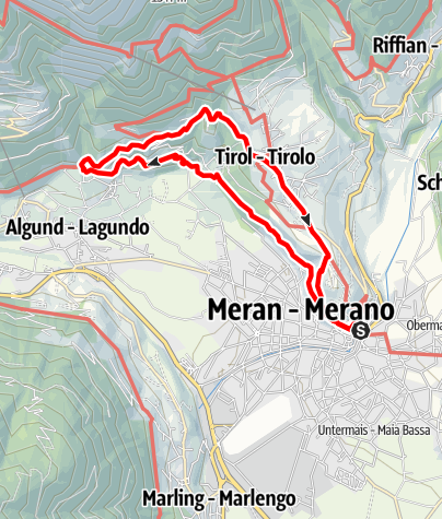 Karte / STI 12: Tappeinerweg - Tirol