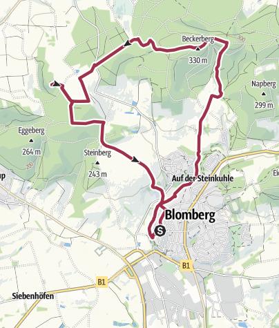 Karte / Auf Spurensuche: Ein Blomberger Wachturm