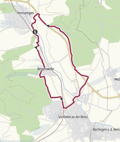 Karte / Albschäfer Zeitspuren - Brenztalblick zwischen Sontheim und Hermaringen
