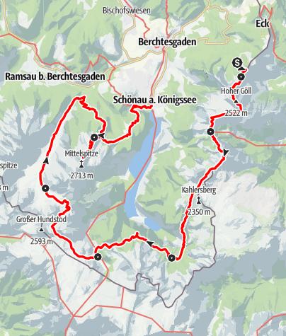 Karte / Hüttentour Berchtesgaden
