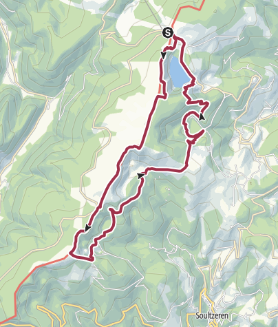 Map / Four lakes in the Vosges
