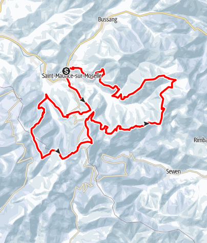 Map / Snowhoeing over the Ballon d'Alsace