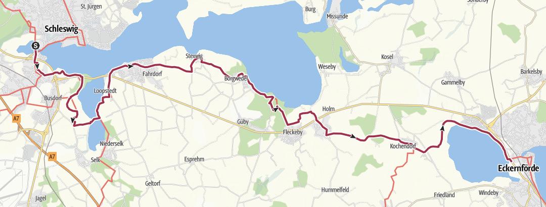Haithabu Karte.Bewertung Zu Kaisermarsch Vom Schloss Gottorf Uber Haithabu