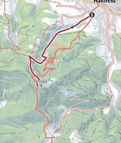 Karte / Von Hainfeld auf den Kirchenberg