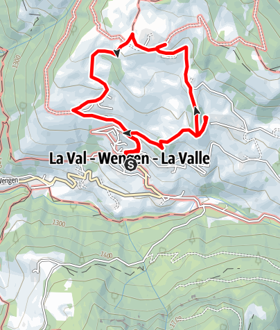 Map / Snowshoes hike to the typical farmhouses in La Val