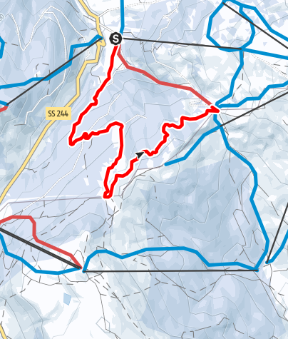 Map / Family winter excursion Planac - La Marmotta