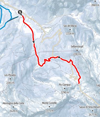 Cartina / Escursione con le ciaspole da San Cassiano alla Malga Valparola