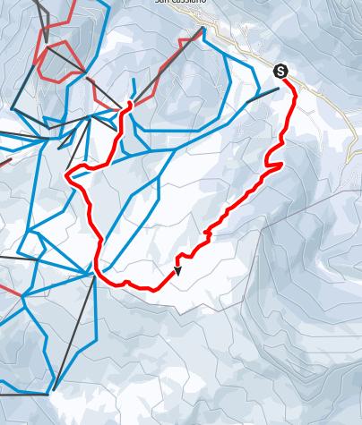Map / Snow shoe hikes in the Störes meadows to the Piz Sorega