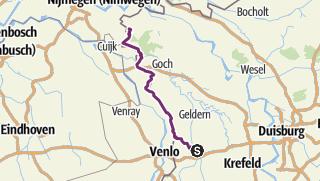 Karte / Wachtendonk Kranenburg 67km