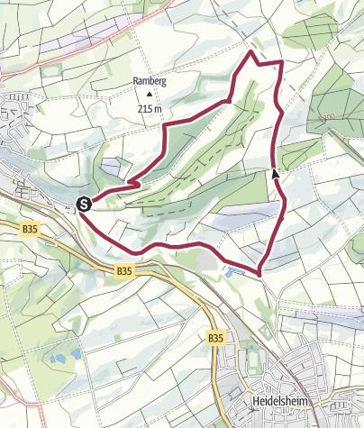 Map / Bruchsaler NAIS-Wanderung Heidelsheimer Weg am 21. Oktober 2017 (ganzjährig begehbar)
