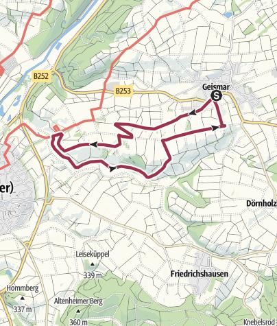 Karte / Zechsteinpfad Geismar mit Erweiterung