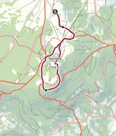 Karte / Bischofsheim   Kreuzberg   Bayerische Rhön