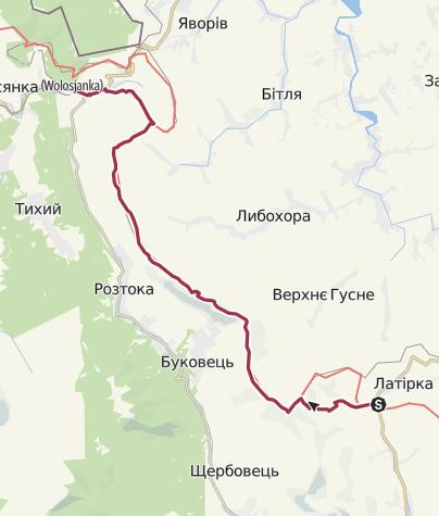 Map / Біласовиця-Ужок