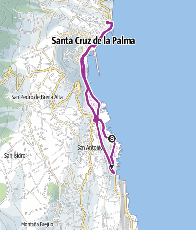 Karte / CItycycling Santa Cruz de La Palma