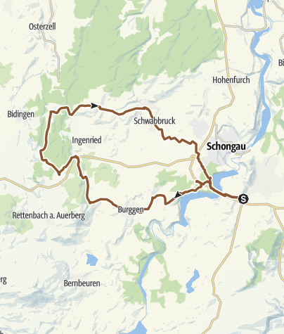 Map / Peiting-Burggen-Krottenhill-Sachsenried-Peiting