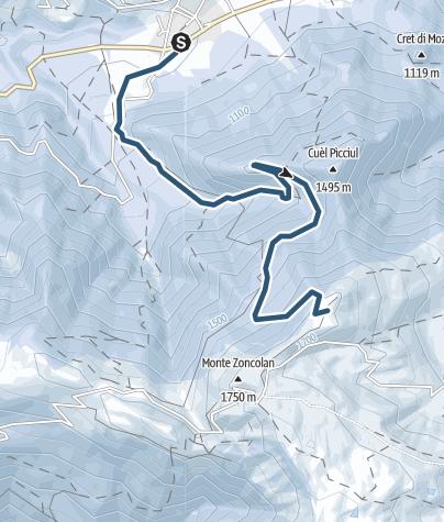 Karte / Abend-Skitour Monte Zoncolan