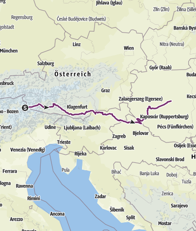 Karte / Drauradweg Plattensee