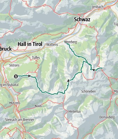 Map / Inntaler Höhenweg (3-Day Variation)