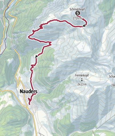 Karte / Schmalzkopf (Abstieg)