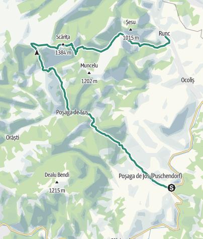 Hartă / Posaga de Jos-Scarita Belioara-Runc