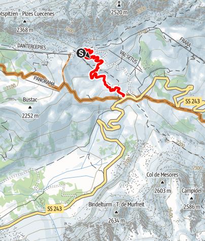 Karte / Cir Flow trail