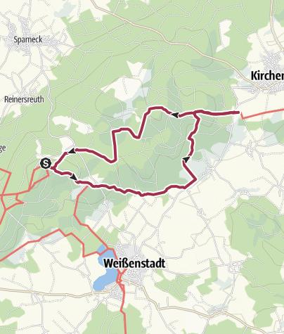 Map / Wanderung vom Waldstein zum Granitlabyrinth Kirchenlamitz
