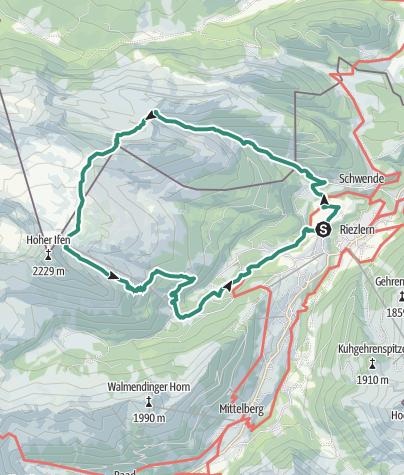 Karte / Obere Gottesackerwände - Roundtour