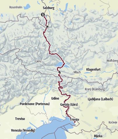 Karte / Bad Reichenhall - Triest