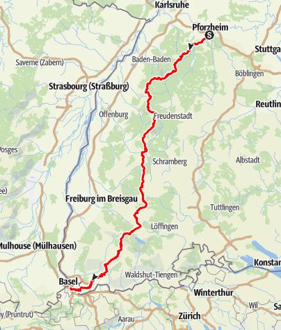 Map / Westweg - Ostvariante