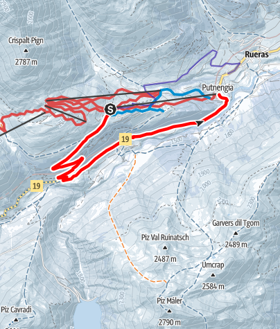 Map / Talwanderung Milez - Tschamut - Dieni