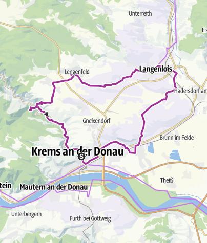 Karte / Krems - Langenlois Rundweg