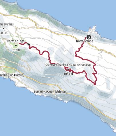 Karte / Höhenweg auf São Jorge