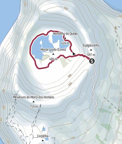 Karte / Caldeirão von Corvo