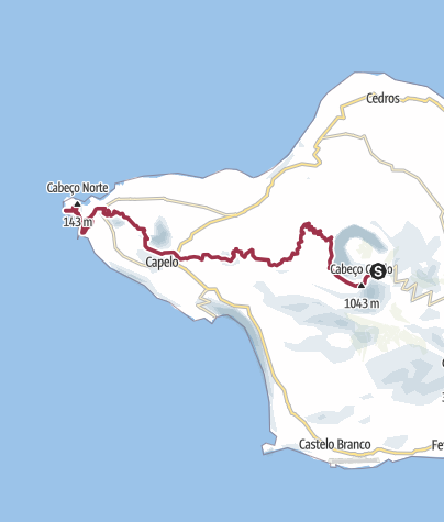 Karte / Vulkanwanderung auf Faial