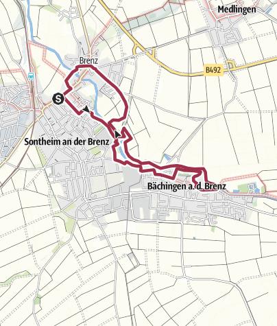 Karte / Brenzauen - Rundweg zwischen Sontheim und Bächingen