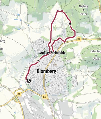 Karte / Blomberger 4-Abende-Marsch zum Zweiten