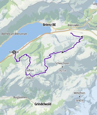 Karte / 2. Iseltwald - Unterbach