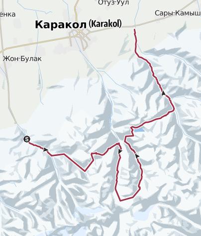Map / 2011 Kyrgyzstan - Karakol circuit