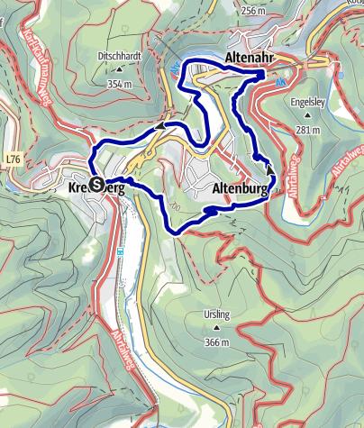 Karte / Auf dem Ahrsteig zum Teufelsloch