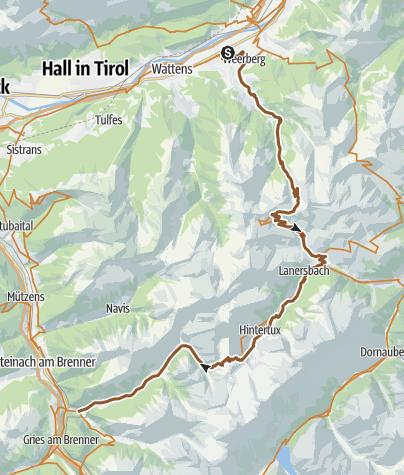 Karte / Via Migra Etappe 2