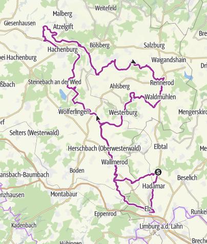 Karte / große Runde Westerwald