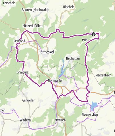 Karte / Börfink-Bosen-Grimburg-Reinsfeld-Thiergarten