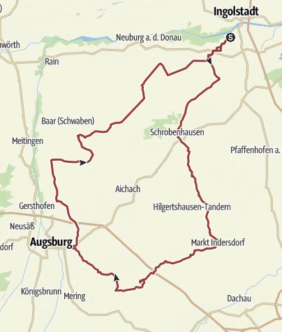 Karte / 24. August 2017  Rollerausfahrt ins Weisswurst Mekka Baindlkirch