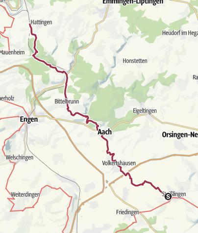 Karte / 7 Steißlingen - Hattingen