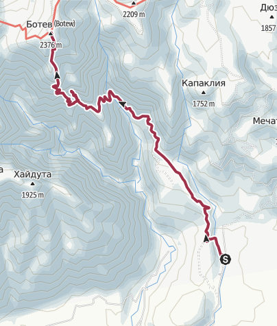 Map / Botev peak