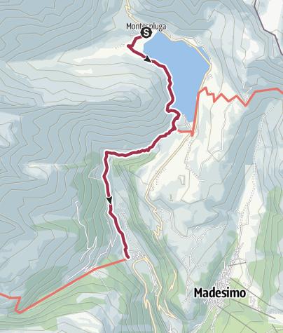 Karte / Tourenplanung Isola - Montespluga