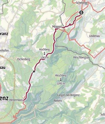 Karte / Wanderung auf dem Höhenweg von Scheidegg zum Pfänder - der Klassiker