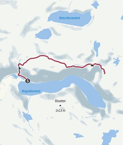 Map / Trolltunga