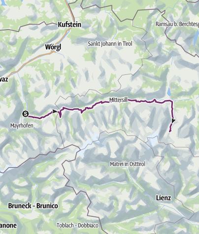 Map / Trans Alpina München - Triglav und zurück: 3. Etappe